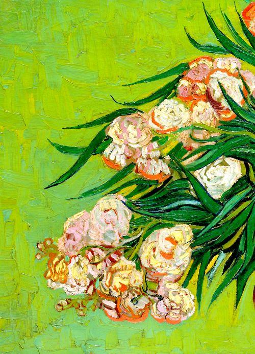 """(Oleanders"""" (detail): Vincent Van Gogh"""