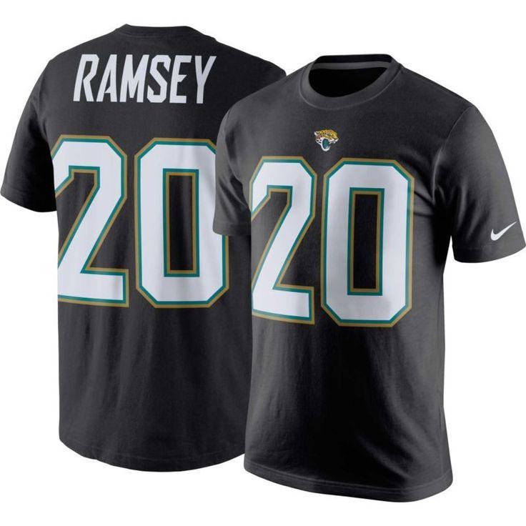Nike Men's Jacksonville Jalen Ramsey #20 Pride Black T-Shirt, Size: Medium, Team