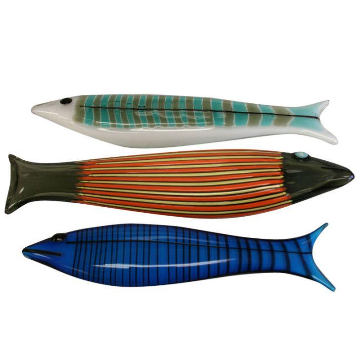 Set of 3 Venini-Ken Scott Fish