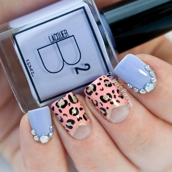Leopard Print Nails by Paulina's Passions