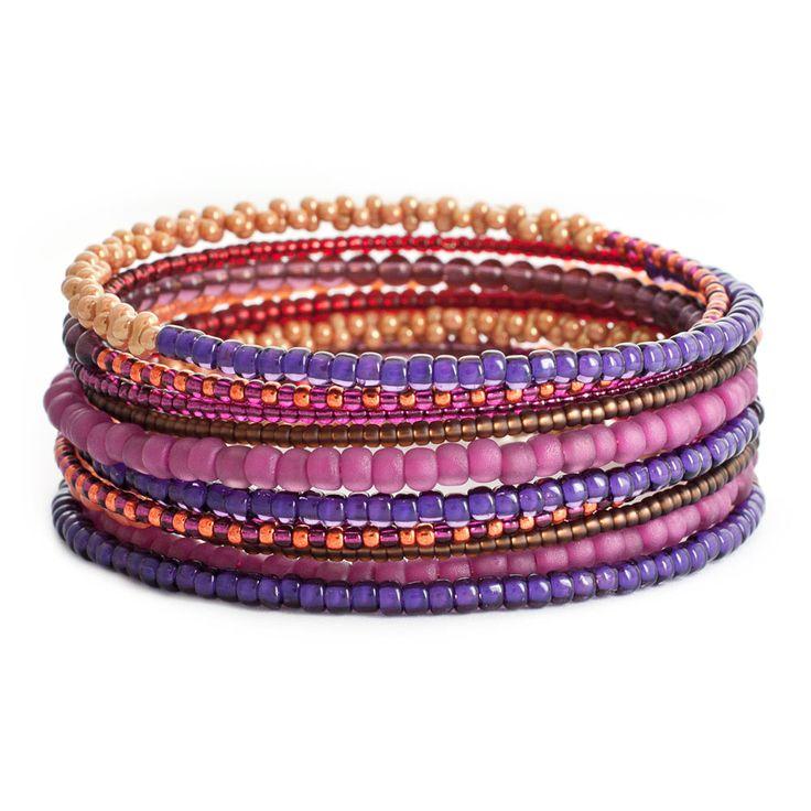 Make our popular DIY Spiral of Color memory wire bracelet design with a splash of #CadmiumOrange #FusionBeadsColorChallenge