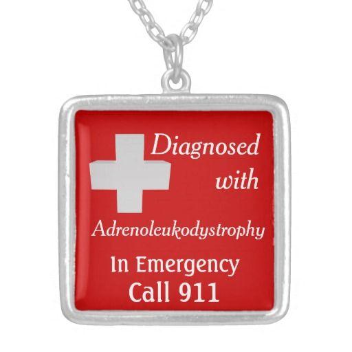 ALD Adrenoleukodystrophy Call 911 Personalized Necklace