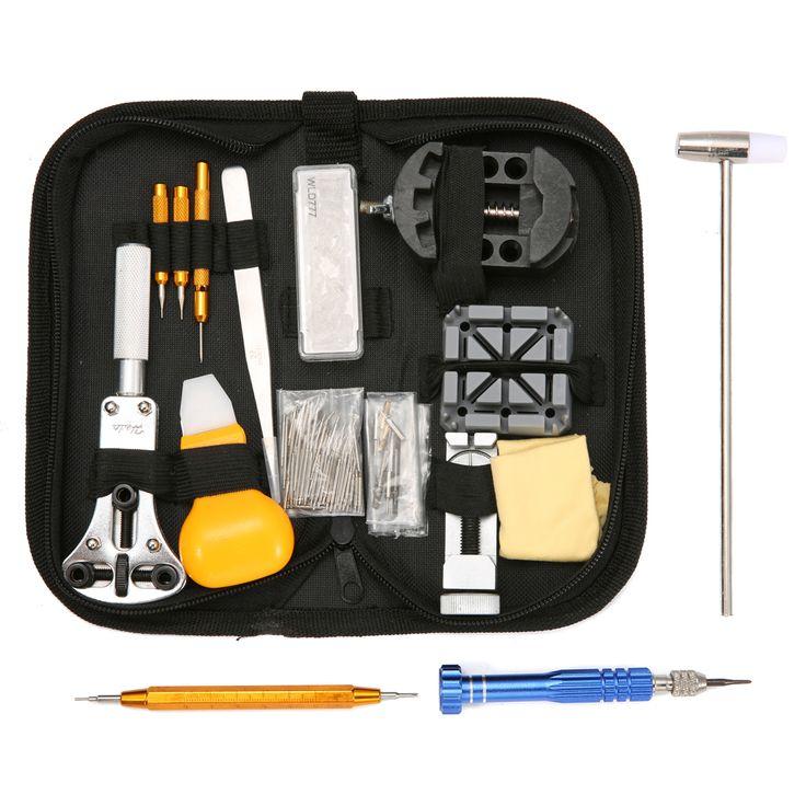 147pcs Reparación profesional del reloj herramienta Kit relojero Caso Abridor de enlace removedor
