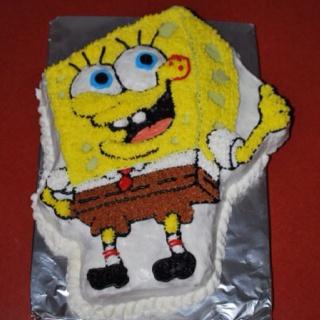 Le gâteau de la fête de 3 ans d'Emile