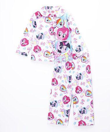 Look at this #zulilyfind! White & Pink My Little Pony Pajama Set - Toddler #zulilyfinds