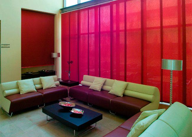 15 best cortinas estores y paneles japoneses images on pinterest interior shutters sun - Cortinas y paneles japoneses ...