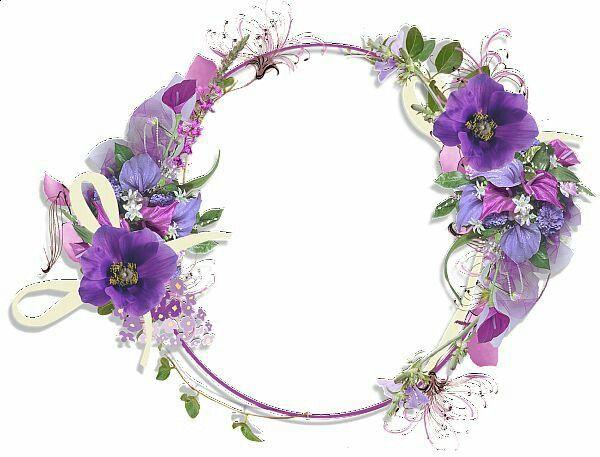 Pin By Dri Gibelini On Diversos Artes E Molduras Flower Frame Flower Border Purple Flowers