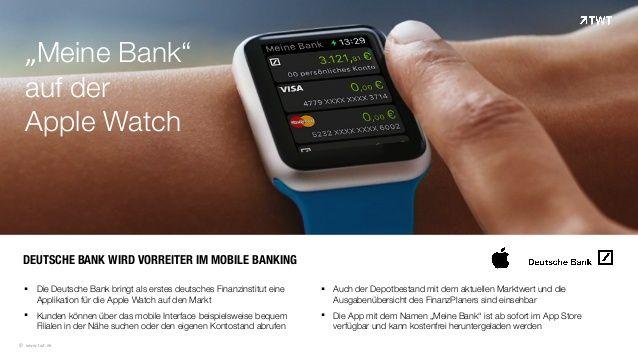 """TWT Trendradar: #App """"Meine Bank"""" auf der Apple #Watch"""