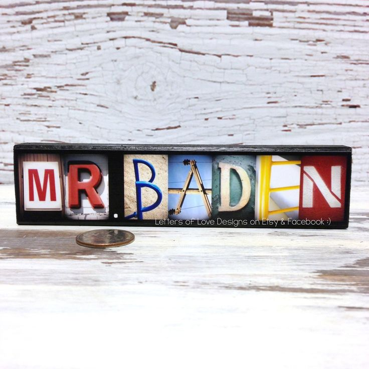 Masculine TEACHER Name Wood Sign, Custom Male Teacher Gift