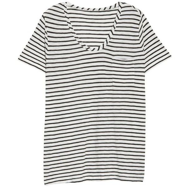 Plus Size Women's Caslon Rounded V-Neck Tee ($35) ❤ liked on Polyvore featuring tops, t-shirts, womens plus tees, plus size short sleeve tops, plus size tees, print t shirts and short sleeve t shirt