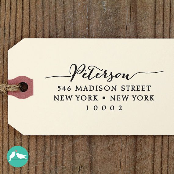 A personalized return address stamp will save you from writing out your info over and over again.