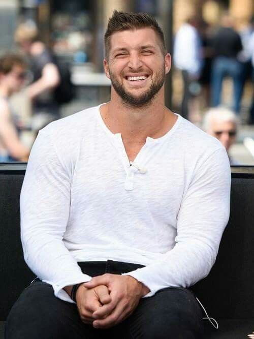 Everything about this man is sexy. he's a man of God, he's humble, kind. Yesterday he ran off the field to help a man that collapsed... God Bless Tim Tebow...