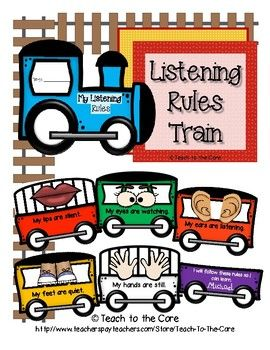 Give Me 5! Listening Rules Train