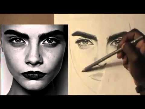 KARAKALEM PORTRE ÇİZİM TEKNİKLERİ - CHARCOAL DRAWİNGS - 3 - YouTube