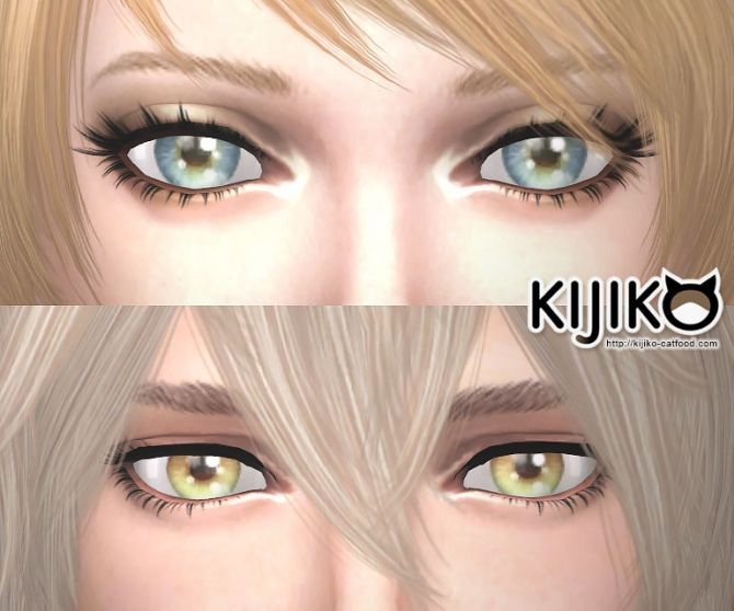 3D Lashes updated at Kijiko via Sims 4 Updates