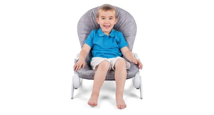 Hooplà  se puede utilizar hasta los 6 meses como una hamaca, y se convierte en una cómoda silla desde el momento en que el niño puede sentarse y levantarse solo.