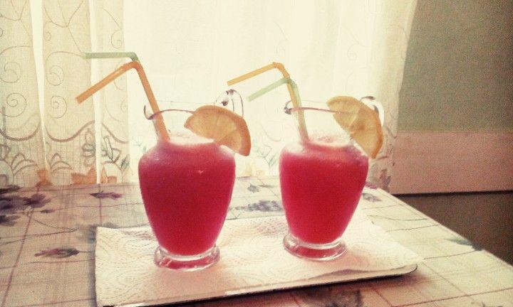 Home made watermelon lemonade ❤❤❤
