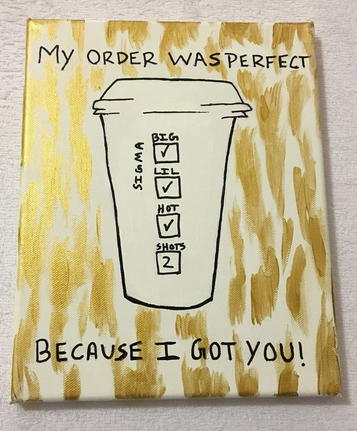 Starbucks inspired sorority craft - white and gold - Sigma Sigma Sigma - Tri Sigma