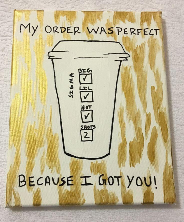 Starbucks inspired sorority craft - white and gold - Sigma Sigma Sigma - Tri Sigma