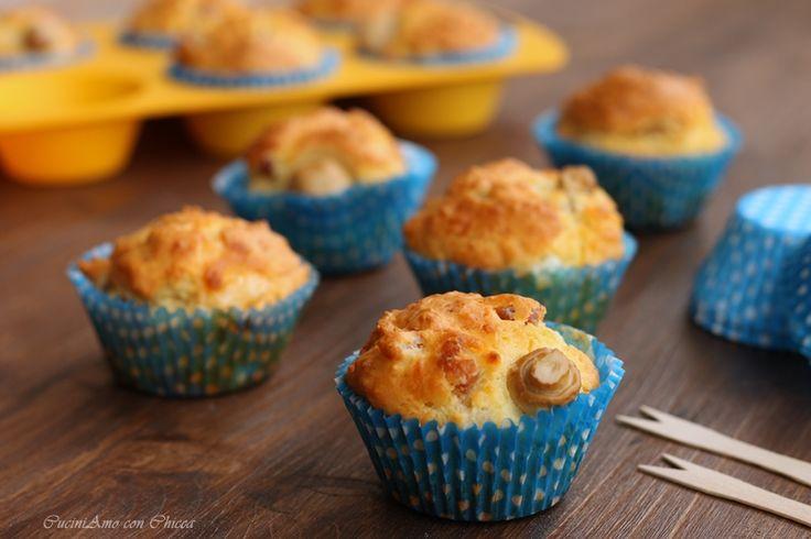 Muffin con funghi e pancetta