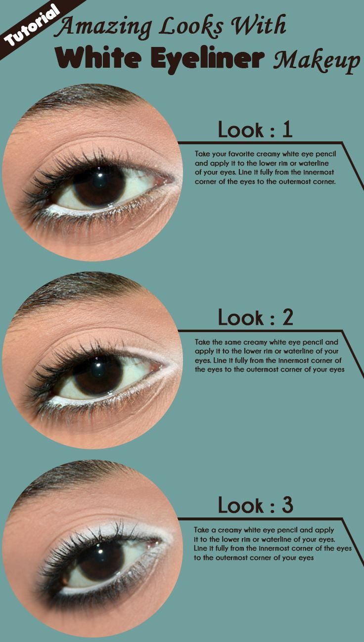 12 Amazing Looks With White Eyeliner Makeup – Tutorial With
