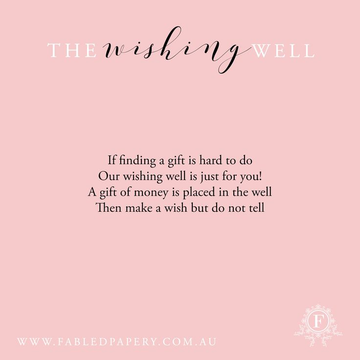 In Our Society Wishing Wells Are Becoming More And Common Most S Find Well Poemswishing Weddingwedding Signswedding