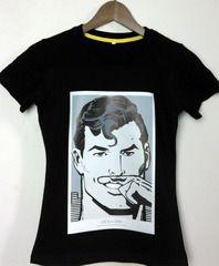 Европейские и американские мужчины и женщины летом Супермен Супермен мультфильм пара хлопок рубашка с короткими рукавами свободные шею футболки