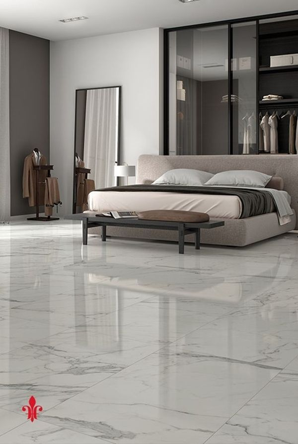 40 Amazing Marble Floor Designs For Home In 2020 Tile Bedroom Bedroom Floor Tiles Marble Flooring Design