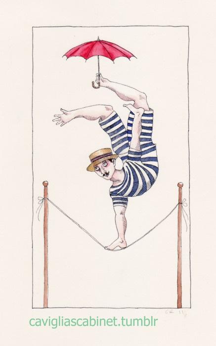 Tightrope walker. Carolyn Raship. 2011.