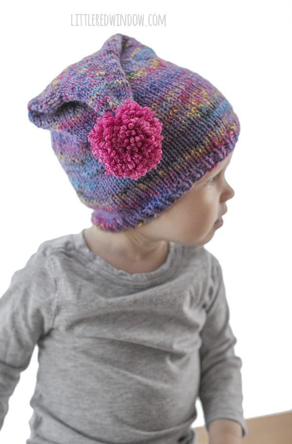 1f5e9cae9 Easy Pom Pom Stocking Cap Knitting Pattern