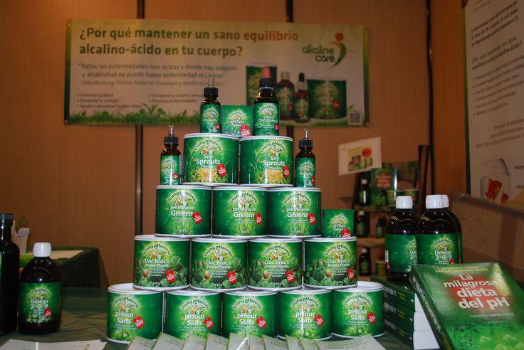 Nuestros #productos #alcalinos en la pasada #feria 2013 de #BioCultura #Bilbao #pHGreens #DocBrocs #SoySprouts #Omega3-6-9 #PuripHy #tirasdepH