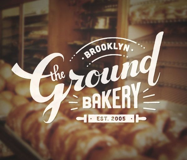 THE GROUND BAKERY - logo design by Nana Nozaki, via Behance