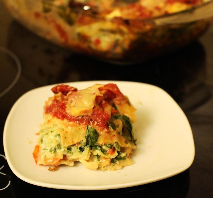 Lazania ze szpinakiem – pomysł na fit obiad [PRZEPIS]