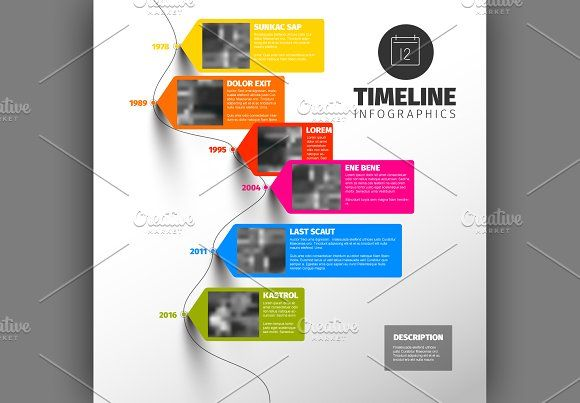 Timeline template by Orson on @creativemarket