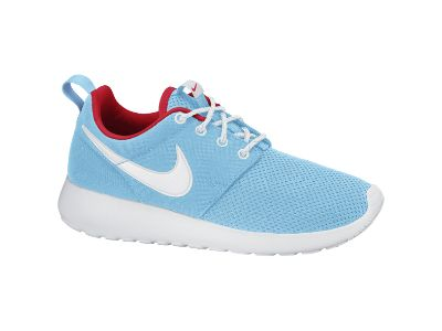 Nike Roshe Run - Girls' Grade School - Running - Shoes - Polarized Blue/Laser  Crimson/White