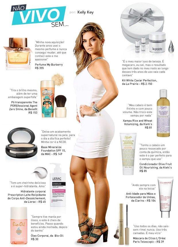 Ritual de beleza de Kelly Key inclui kit com cremes de mais de R$ 2 mil