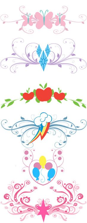Signos de cada marca de belleza / signs of each cutie mark