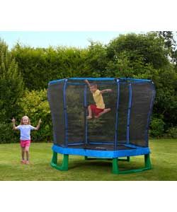 Buy Plum Products 7ft Trampoline & Enclosure - Blue/Green at Argos.co.uk, visit Argos.co.uk to shop online for Trampolines and enclosures