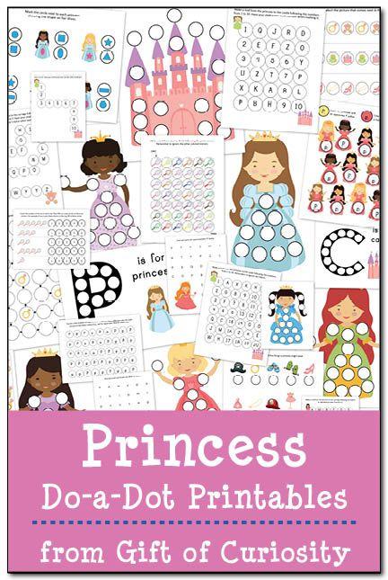 Princess Do-a-Dot Printables