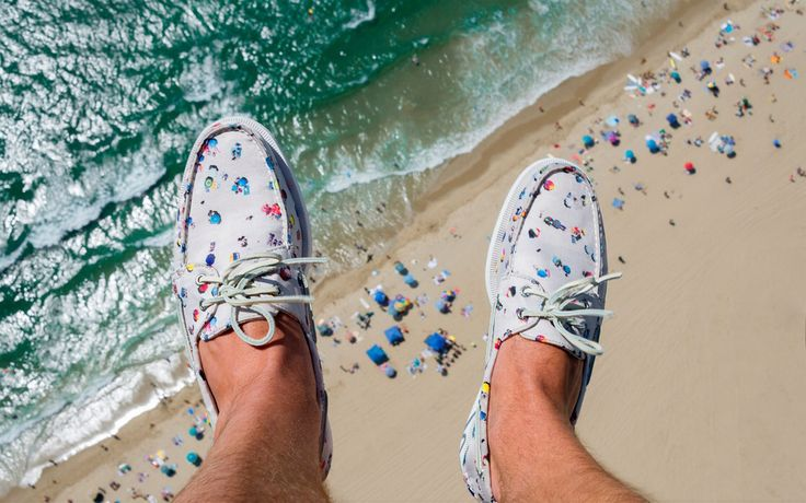His design collaboration with Sperry boat shoes, and what a great pic, right?
