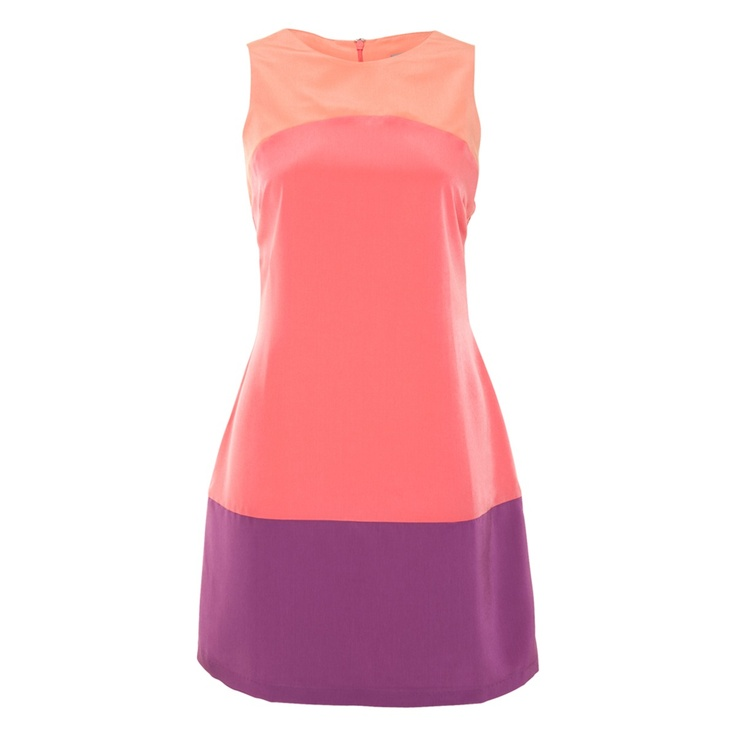 A Line Colour Block Dress