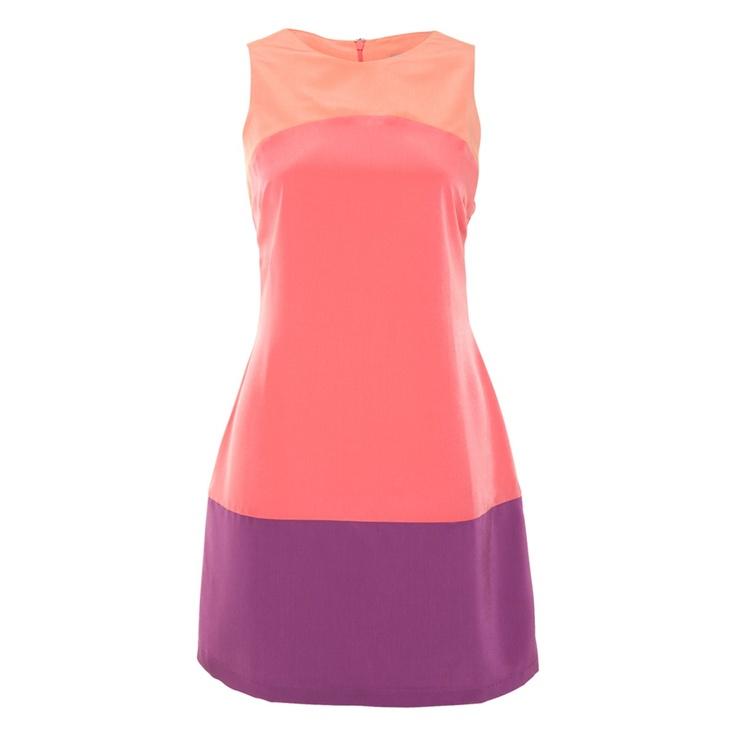 A Line Colour Block Dress