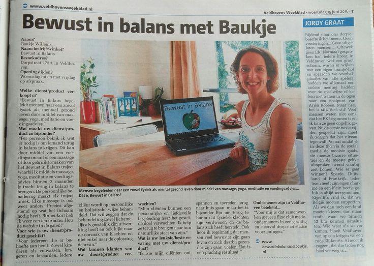 Bewust in Balans in de krant