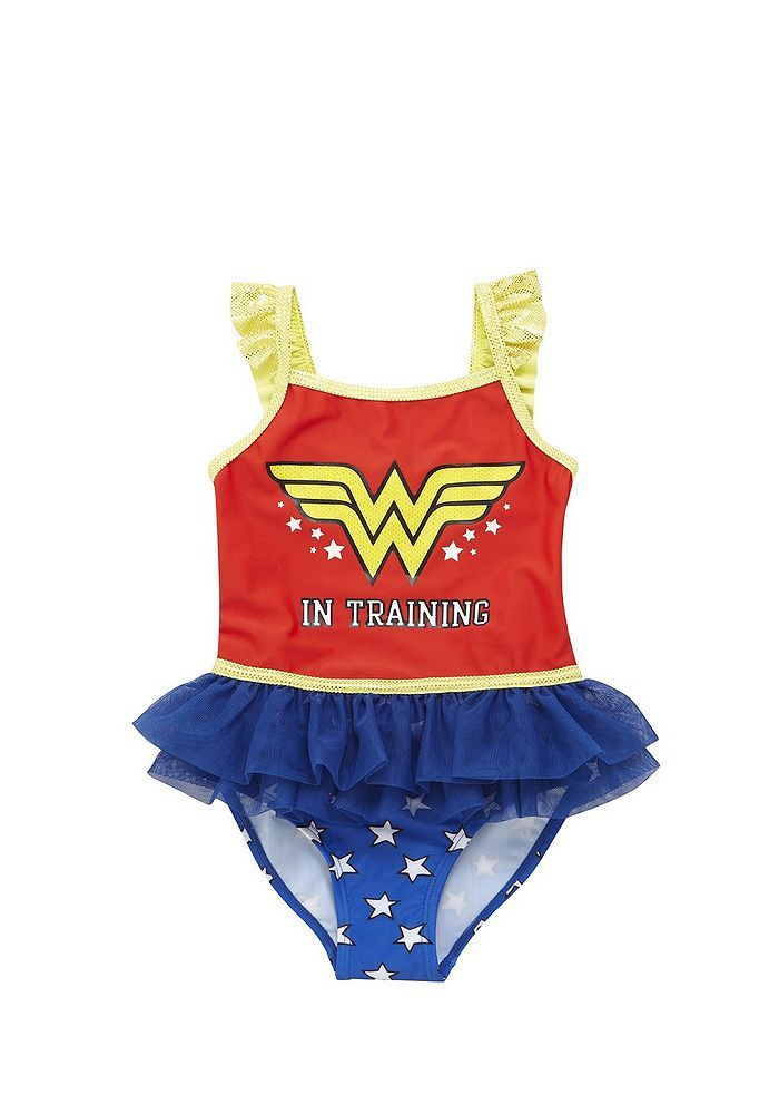 330ab1aacb950 Tesco direct: DC Comics Wonder Woman in Training Swimsuit | Baby ...