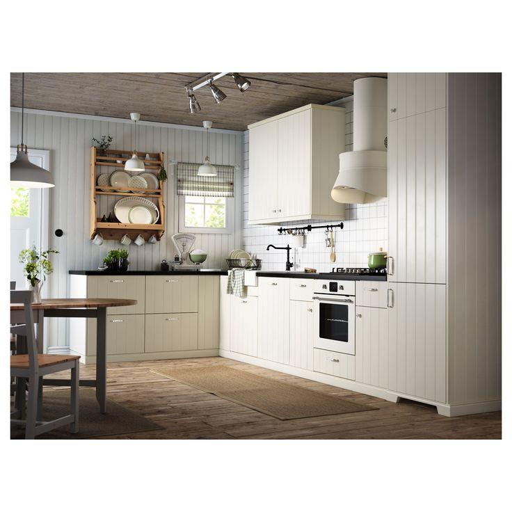 Fancy IKEA HITTARP T r cm Mit ihrem cremewei en Farbton und dem vertikalen Riemchendekor strahlen HITTARP T ren Handwerkscharakter aus und verleihen der