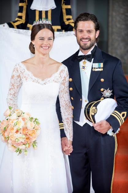 Prinzessin Sofia und Prinz Carl Philip bei ihrer Hochzeit im Jahr 2015.