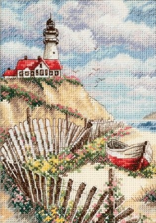 Amazon.com: Dimensions Needlecrafts Counted Cross Stitch, Cliffside Beacon: Arts, Crafts & Sewing