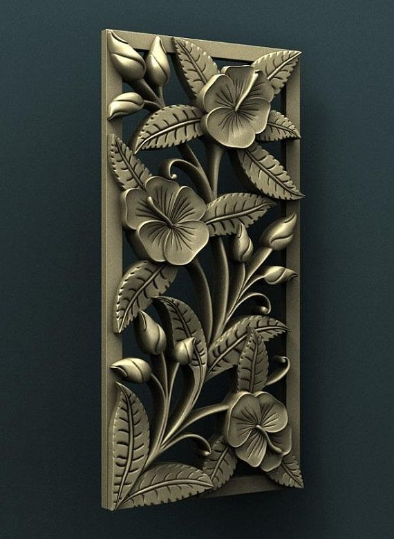 2 3D STL Models Bed Decor Flowers for CNC Router Carving Machine Artcam aspire