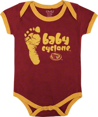 Day 2: Cyclone Baby Clothes Iowa State Cyclones Infant Cardinal  #CycloneFBScavengerHunt