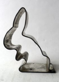 Vintage Kitchen Tin Rabbit Cookie Biscuit Cutter Nutbrown Blackpool 1930s Easter #FollowVintage